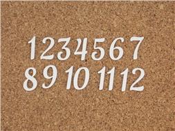 Набор цифр от 1 до 12 (2)