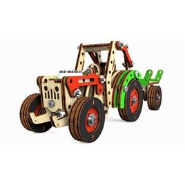 M-WOOD Конструктор 3D деревянный винтовой M-WOOD Трактор Фермер