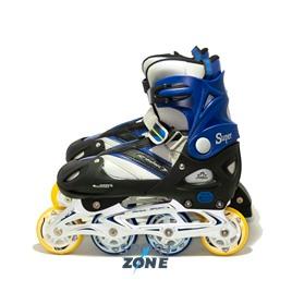 Роликовые коньки раздвижные 40-43 черно-синие