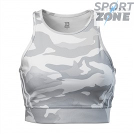 Топ Better Bodies Chelsea Halter, White Camo