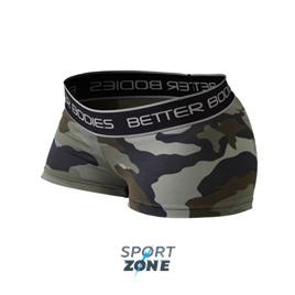Шорты женские Better bodies Fitness hotpant, зеленый/камуфляж