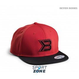Кепка Better Bodies Flat bill cap, красная с черным