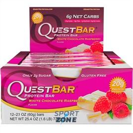 Батончик протеиновый QuestBar White Chocolate Raspberry (12 шт)