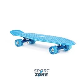 "Скейт пластиковый 27X8"" голубой"