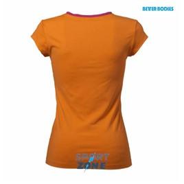 Футболка женская Better bodies Fitness V-tee, оранжевая