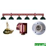 """Лампа на шесть плафонов """"Dandy"""", интернет-магазин товаров для бильярда Play-billiard.ru"""