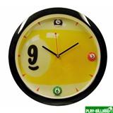 """Часы настенные """"Девятка"""" D29 см (черные), интернет-магазин товаров для бильярда Play-billiard.ru"""