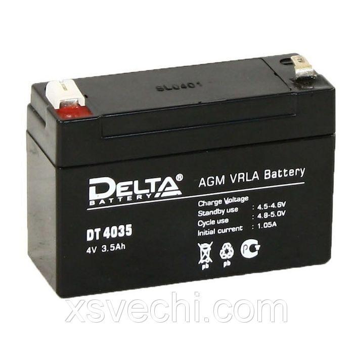 Аккумуляторная батарея Delta 3,5 Ач 4 Вольт DT 4035