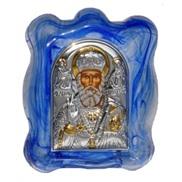 """Икона """"св. Николай Чудотворец"""" на стекле"""