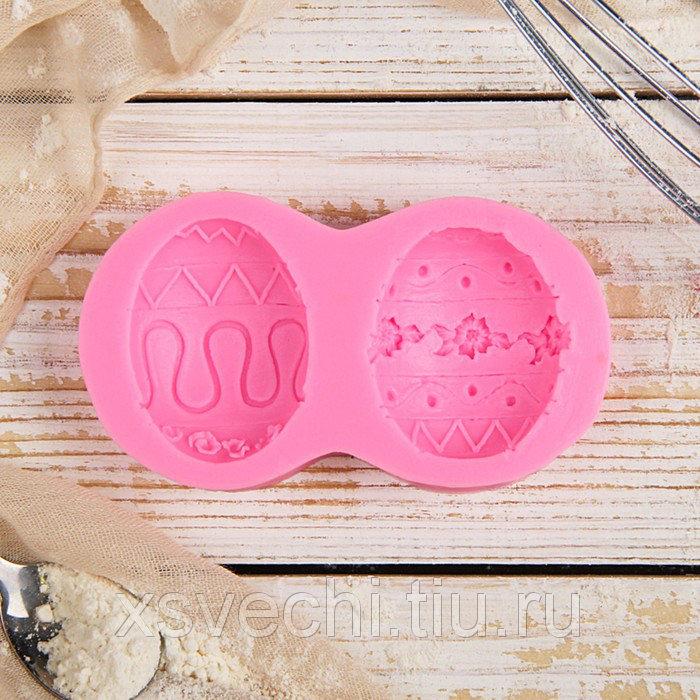"Молд 10,4х5,5х1,3 см ""Пасхальное яйцо"", цвет розовый"