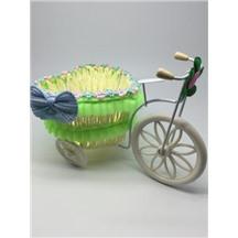 Велосипед декоративный арт.XY-2 цвет: светло-зеленый