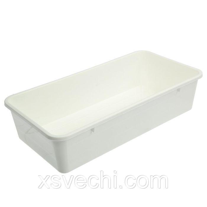 Ящик для рассады, 40 х 20.5 х 9.5 см, белый