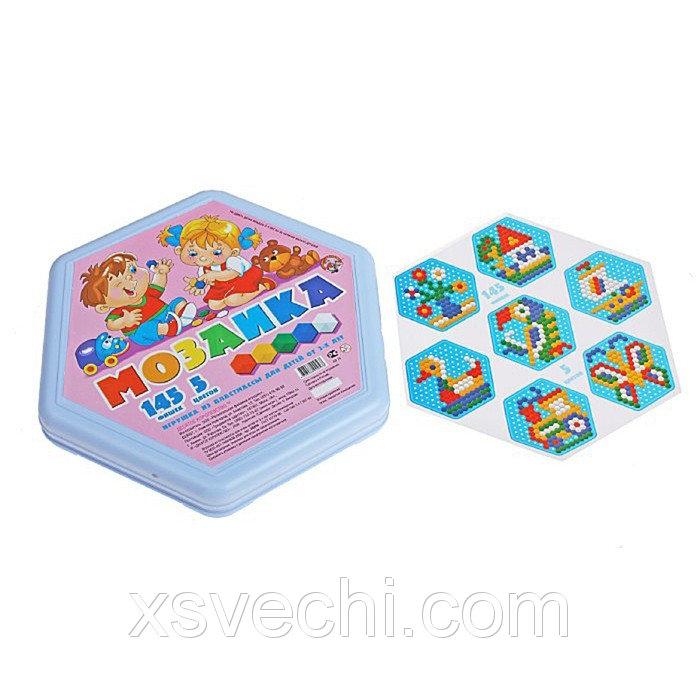 Мозаика шестигранная, 145 элементов, 5 цветов