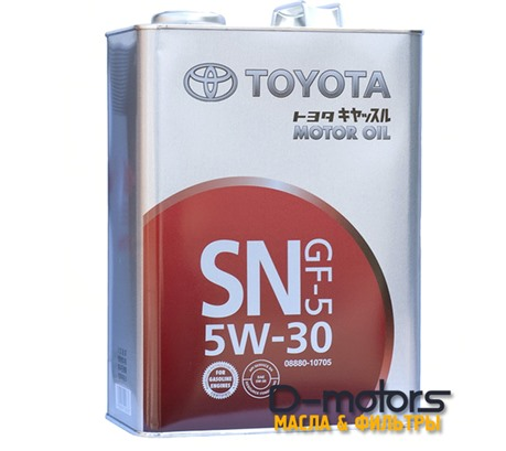 TOYOTA MOTOR OIL 5W-30 SN/GF-5 (4л.)
