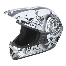 Шлем кроссовый HX276 SWORD серо-белый XL