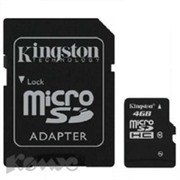 Карта памяти Kingston microSDHC 4GB Class 4(SDC4/4GB)