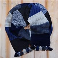 Набор для шарфа Vana Tallinn  сине-серый из пряжи Pastorale