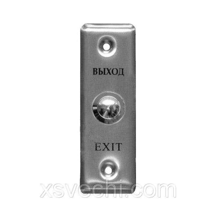 Кнопка выход Tantos TDE-02, металлическая, 12-24 В