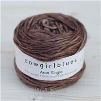 Пряжа Aran Single solid Какао, 120м/100г, Cowgirlblues, Cocoa