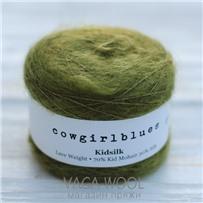 Пряжа Kidsilk solid Олива, 225м/25г, Cowgirlblues, Olive