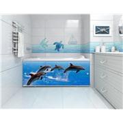"""Экран 1,5 """"Премиум Арт"""" №5, дельфины"""