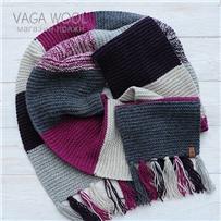 Набор для шарфа Vana Tallinn розово-серый из пряжи Pastorale