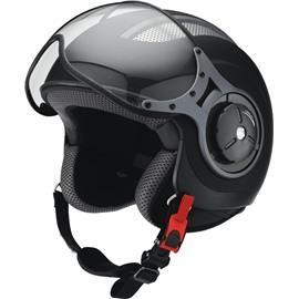 Открытый шлем со стеклом HX 86 черный матовый XL