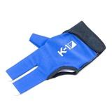 """Перчатка бильярдная """"K-1"""" (черно-синяя, вставка кожа), интернет-магазин товаров для бильярда Play-billiard.ru"""