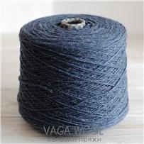 Пряжа City 005 Джинс 191м/50гр., шерсть ягнёнка, шёлк, Vaga Wool