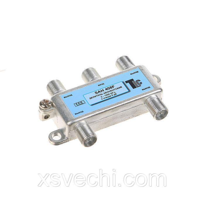 Делитель антенный  TLC SAH408F   (1x4, 5-862 Мгц, 8 db)