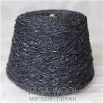 Пряжа Kilcarra tweed мокрый асфальт 4582, 80м в 50 г
