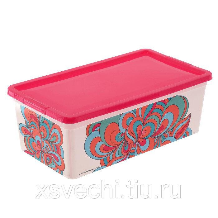 """Коробка для мелочей 5,5 л """"Домашняя"""", цвет МИКС"""