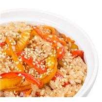 Wok на Рисе с  Морепродуктами и Овощами
