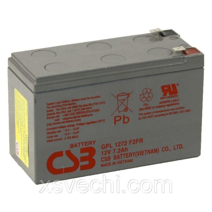 Аккумуляторная батарея CSB 7.2 Ач 12 Вольт GPL 1272