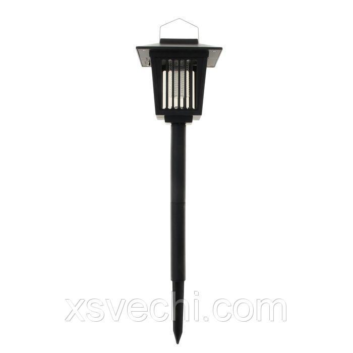 Светильник садовый ловушка насекомых УФ+LED*1 Вт, 33*15 см, солнечная батарея, 2 режима, пика 1009