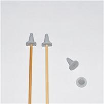 Заглушка для спиц, размер М (3.5-5.5), цвет серый, KA Seeknit, 02875