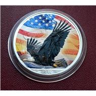 ДУХ АМЕРИКИ серебро ОРЕЛ 1$ США 2010