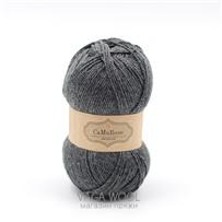 Пряжа Yaku Серый тёмный 1060, 200м/50г, CaMaRose, Mellemgra