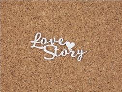 Чипборд Love Story с сердечком