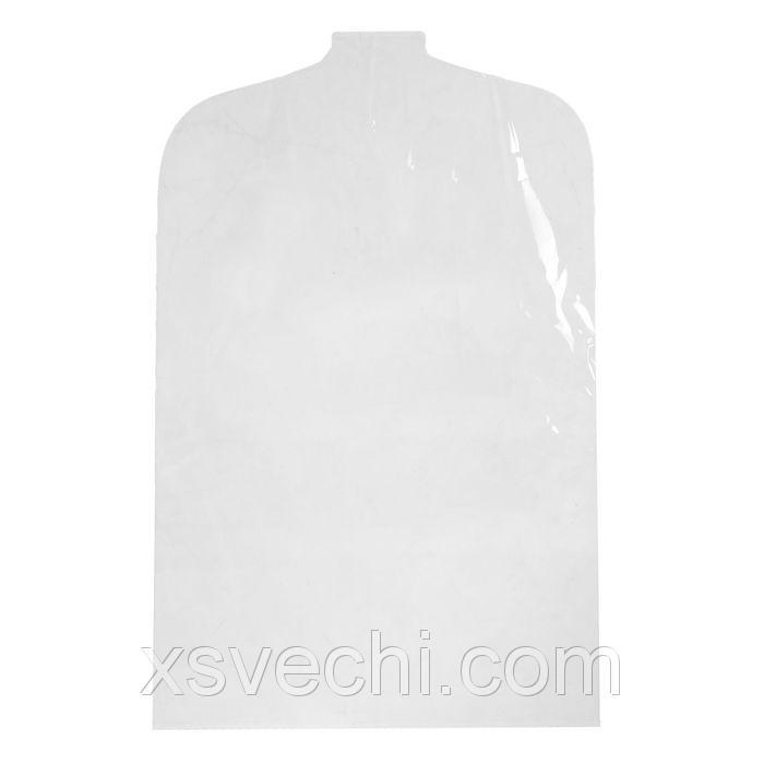 Чехол для одежды 52х80 см, цвет прозрачный