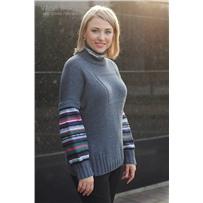 Набор с описанием свитера размер S Балтийский бриз