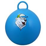 """Мяч-попрыгун """"Медвежонок"""" GB-403, 65 см, с ручкой, синий"""