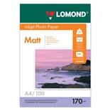 Фотобумага для струйной печати Lomond А4, 170 г/м2, 100 листов, двухсторонняя матовая 0102006