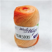 Пряжа YEAR SOCKS, 09 Сентябрь, 400м в 100г, Woolly Hugs