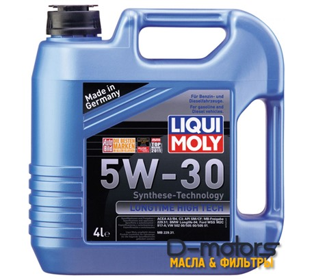 LIQUI MOLY LONGTIME HIGH TECH 5W-30 (4л.)