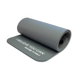 Мат для аэробики NBR 12,5 мм серый с кольцами