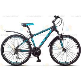 Велосипед Stels Navigator 650 V 26 (2016) Черный/Серебристый/Голубой , интернет-магазин Sportcoast.ru