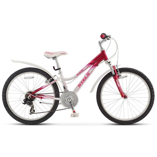 Велосипед Stels Navigator 460 V 24 (2015) Белый/Бордовый/Розовый, интернет-магазин Sportcoast.ru