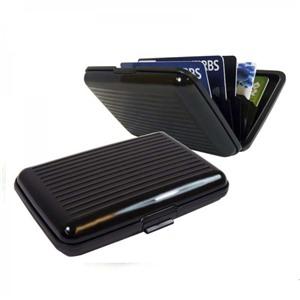 Алюминиевый рифленый кошелек Aluma Wallet (Алюма Валет) цвет черный, оригинал в коробочке.