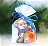 Новогодний мешок для конфет и подарков 20х30 см. С Новым Годом